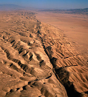 San Andreas Fault From Space Earthquakes - E...