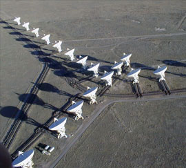 The VLA from the air, the Y pattern visible