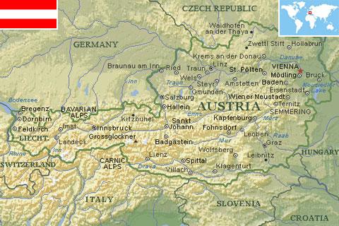 Austria world atlas find fun facts austria gumiabroncs Gallery