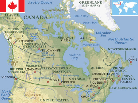 St Lawrence River World Map.Canada World Atlas Find Fun Facts
