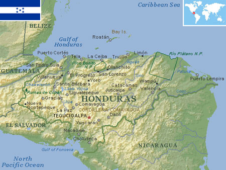 Honduras world atlas find fun facts honduras gumiabroncs Image collections
