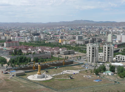 The city of Ulan Bator