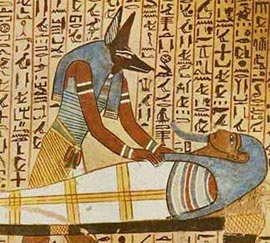 Anubis was a god associated with death
